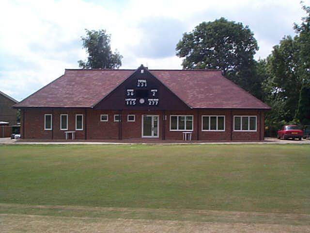 The completed pavilion in July 2001