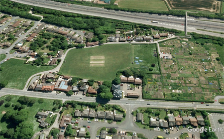 Aerial shot of the ground on the day we hosted MCC Ladies vs South Africa Ladies in 2003