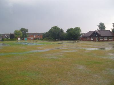 In 2004 the ground was flooded, we were back playing less than 24 hours later